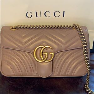 Gucci GG Marmont Flap Small, Rose